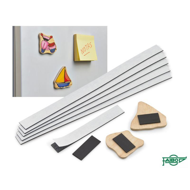 ADHESIVE MAGNETIC STRIPS OF SCHOOL USE