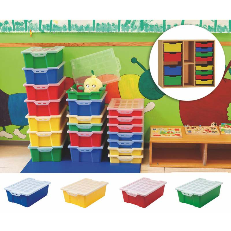 STACKABLE STORAGE BOX WITH COVER