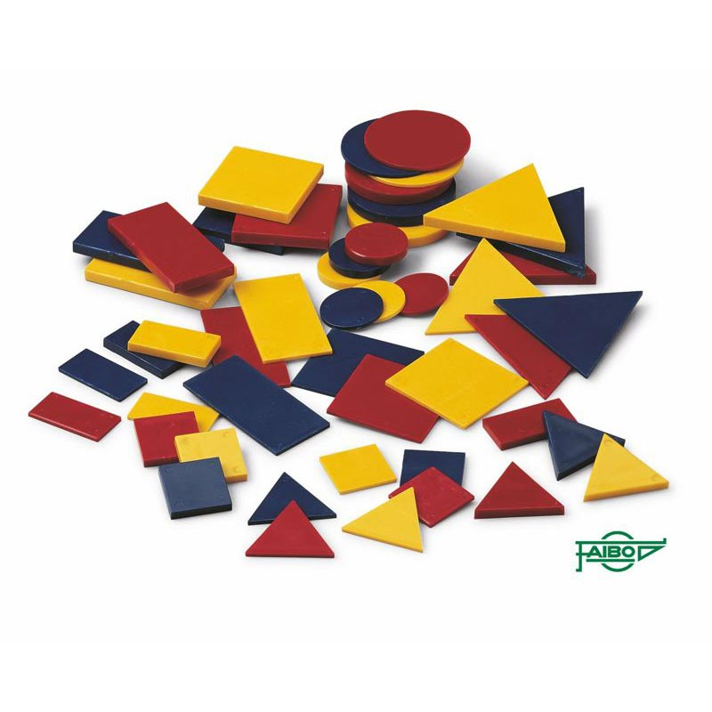 SET OF PLASTIC LOGICAL BLOCKS