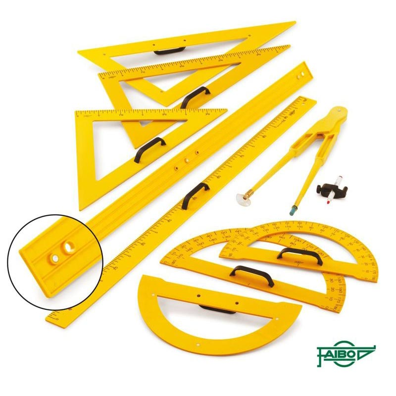 MAGNETIC DRAWING SET FOR BOARDS, YELLOW COLOUR