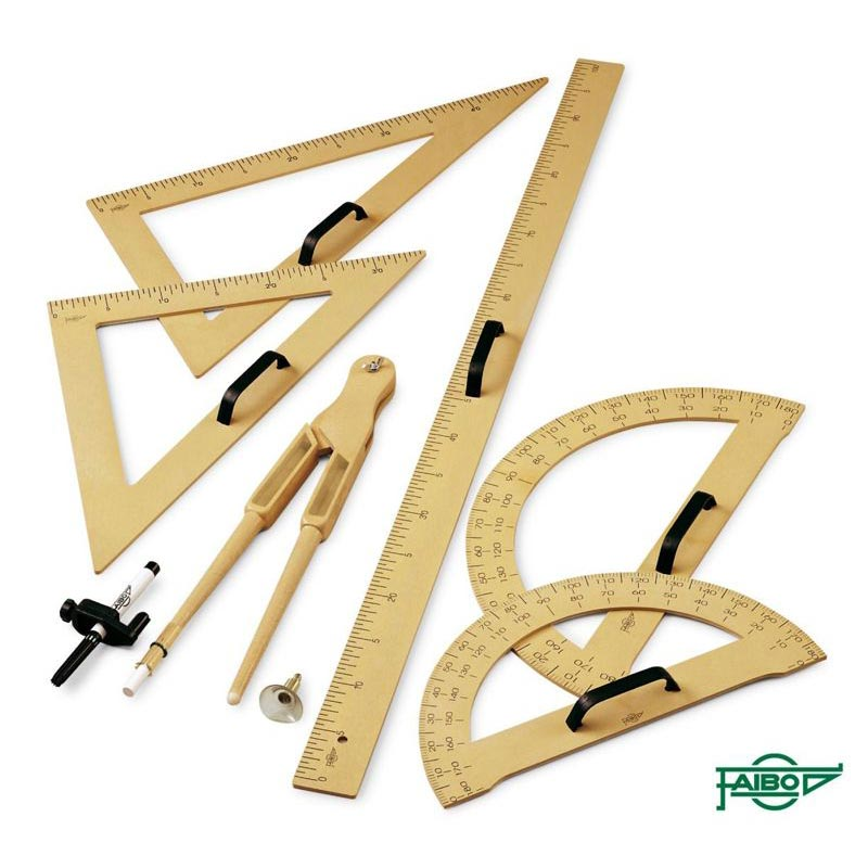 DRAWING SET FOR BOARDS, WOOD IMITATION COLOUR
