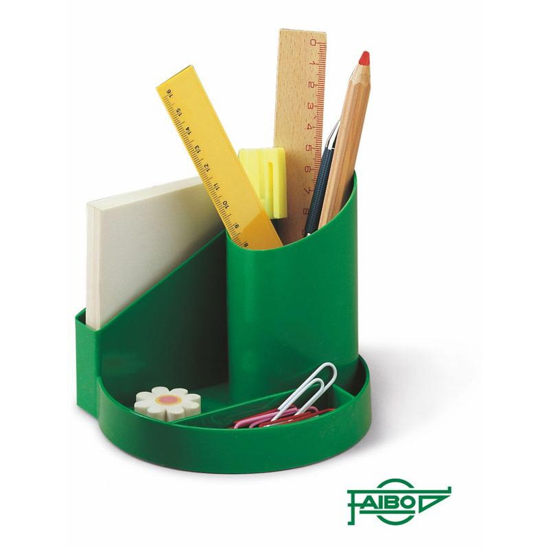 PLASTIC DESK TIDY AND EURO COIN TRAY