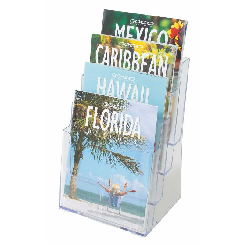WALL MOUNTED AND DESK-TOP SIGN HOLDER, A4 (4 COMPA