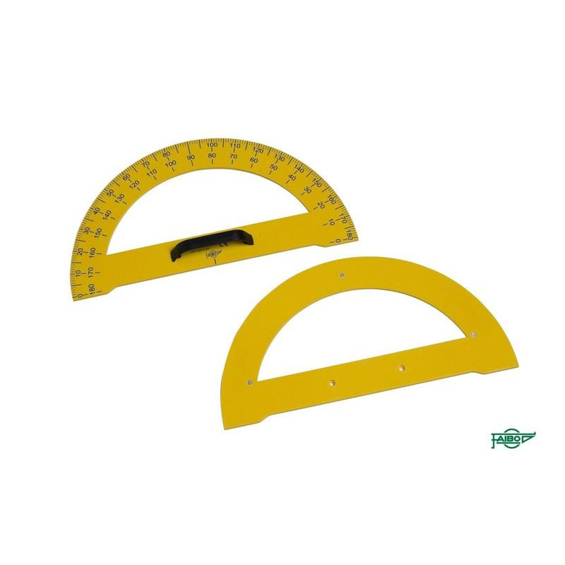 MAGNETIC PROTRACTOR OF 180º/34 CM.